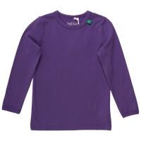Basic Shirt langarm uni lila