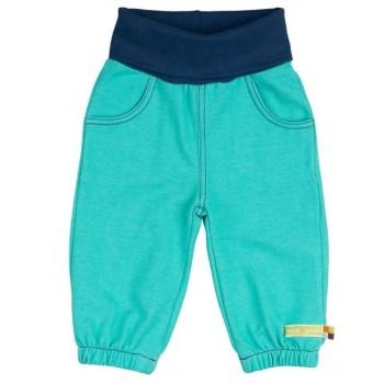Weiche Kinderhose Jeansoptik grün