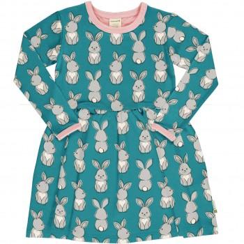 Flatter Kleid langarm elastisch Hasen
