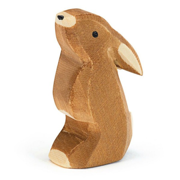 Hase Ohr tief Holzfigur 5 cm hoch