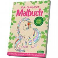Mein Graspapier Malbuch - Einhörner