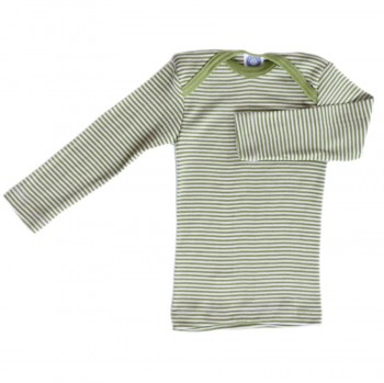 Cosilana Shirt grün geringelt Wolle