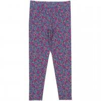 Leggings Blumen-Motive lila-pink