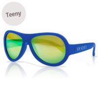 Vorschau: 7-16 Jahre flexible Sonnenbrille Teeny uni blau polarisiert