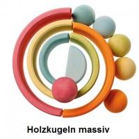 Vorschau: Holzkugeln Massiv 6 Stück pastell