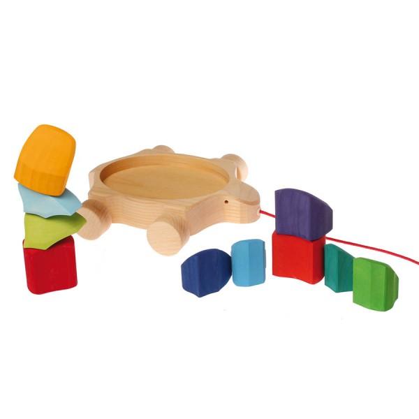 Schildkröte Schiebetier mit Stecksteinen