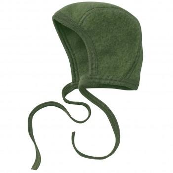 Warme Fleece Babymütze schilf-grün