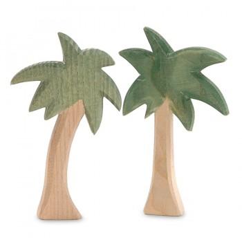 12 cm Palmengruppe 2 Teile für Miniatur Weihnachtskrippe