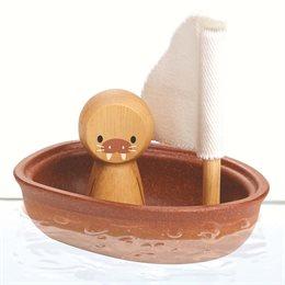 Badespielzeug Holz Boot Walross