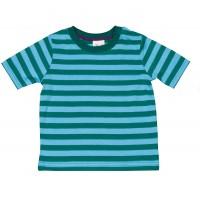 Vorschau: Kurzarm Shirt sommerlich gestreift grün blau