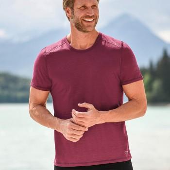 Wolle Seide Herren T-Shirt Regular Fit malve