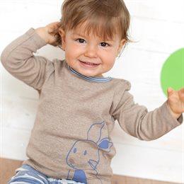 Süsses neutrales Baby Langarmshirt Hase