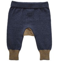 Baby Strickhose Wolle Biobaumwolle navy