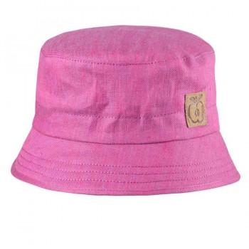 Fischerhut aus Leinen pink rosa