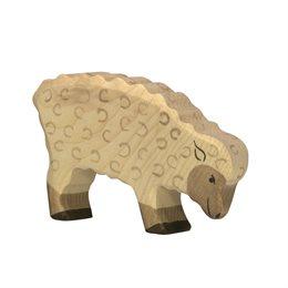 Holzfigur Schaf - auf dem Bauernhof