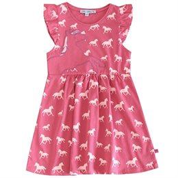 Pferde Kleidchen mit Rüsche rosa