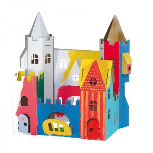 Schloss zum Stecken, malen & spielen 2 Figuren