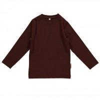 Shirt mit soften Armbündchen elastisch braun
