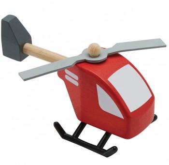 Holz-Hubschrauber für Kinder ab 3 Jahren - 12 cm lang