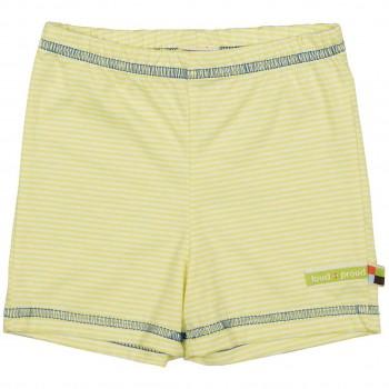 gestreifte leichte Shorts gelb