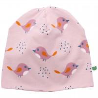 Vögel Beanie in rosé