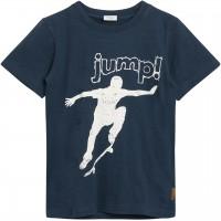 Leichtes Slub T-Shirt Skater in navy