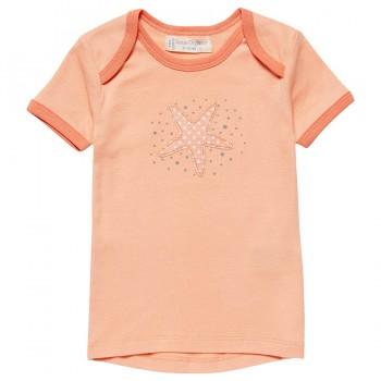 Babyshirt kurzarm Seestern koralle