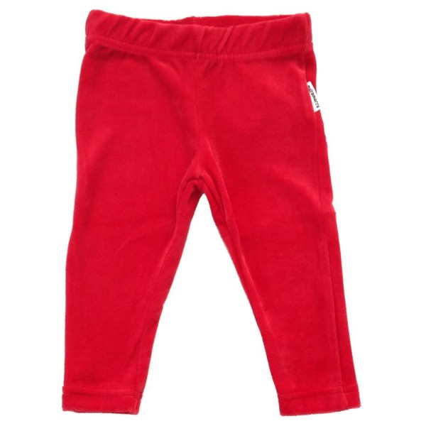 Warme Velours Leggings von maxomorra uni rot