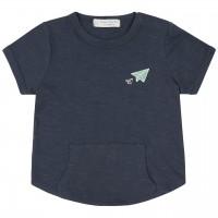 Leichtes navy Shirt kurzarm Kängurutaschen