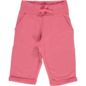 Rosa-pinke Sweat Shorts knielang