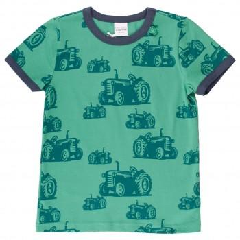 Shirt kurzarm Traktoren-Druck grün
