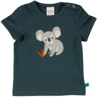 Shirt kurzarm Koala Stickerei in dunkelblau