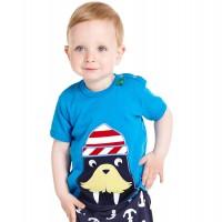 T-Shirt echt cool mit Walross - blau