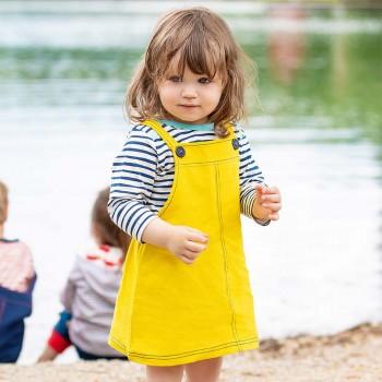Robustes Kleidchen gelb mitwachsend