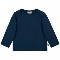 Leichtes Uni Shirt langarm Basic in dunkelblau
