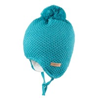 Warm und kuschelig Mütze türkis