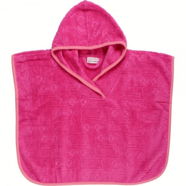Badeponcho der mitwächst mit Kapuze pink rosa