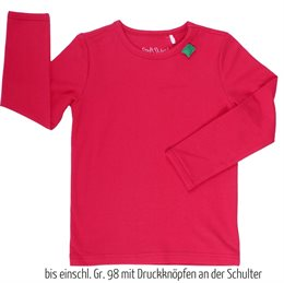 Bio Langarmshirt - tolles dehnbares Basic Shirt - rot