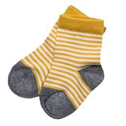 Gestreifte Bio Babysocken gelb