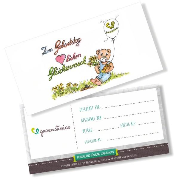 Zum Geburtstag - mit pflanzenfarben bedruckt