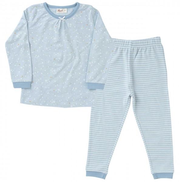Mädchen Schlafanzug Sternschnuppen hellblau