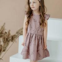 Hochwertiges Mädchen Kleid kräftiges altrosa