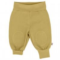 Mitwachsende Hose mit breiten Bündchen – Senf