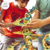 Konstruktionsspiel 240 Binabo Chips – 4 Farben
