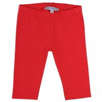 Rote 3/4 Leggings uni
