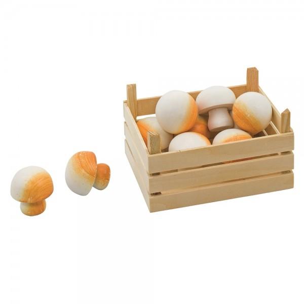 Gemüsekiste für Kaufmannsladen - Chamignons