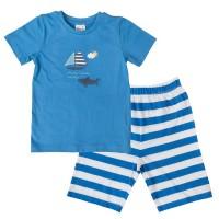 Bio Sommer Schlafanzug kurz Segelboot