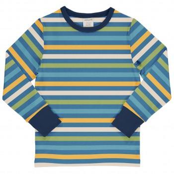 Blaues Streifen Shirt langarm