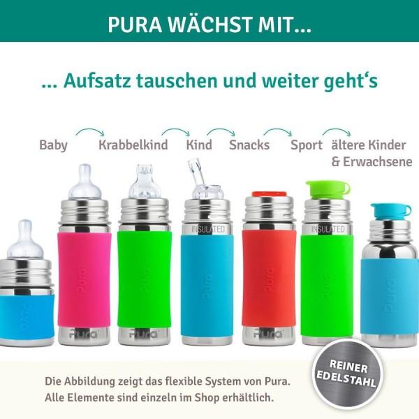 Thermo Flasche 260 ml ab 6 Monate Trinklernaufsatz grün
