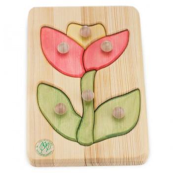 Holzpuzzle Blume ab 18 Monate